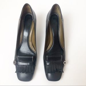 Cole Haan ~ Black Leather Heels Size 8B